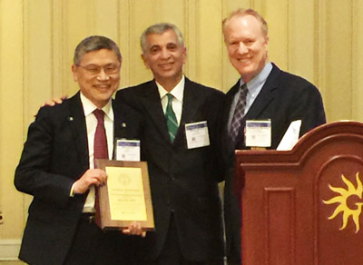 Dr. Woo received the Guest of Honor, Recognition of Outstanding Contribution to the Art and Science of Laryngology and the The James Newcomb Award, Recognition of Outstanding Contribution to the Art and Science of Laryngology and Dedication to the The American Laryngological Association, April 2018